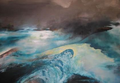 """""""WATERIG"""", Olieverf op linnen 150 x 200cm"""