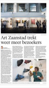 Artikel in Noord Hollands Dagblad, ArtZaanstad