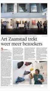 Artikel in Noord Hollands Dagblad, ArtZaanstad