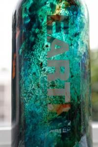 Detail eARTh bottle, Charity AAF 2016 Earth water