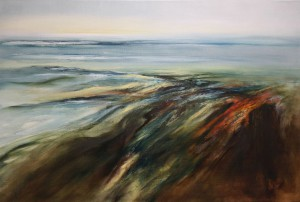 """""""ONE OF THE ELEMENTS OF NATURE I"""", Olieverf op linnen 100 x 150 cm"""
