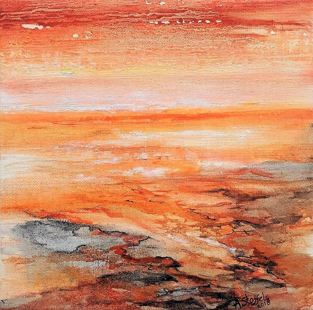 Astrid Stoffels- Vulnerability IX-Olieverf -25 x 25 cm