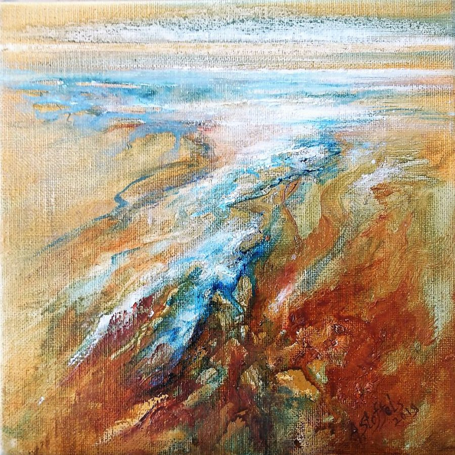 Stream I, Olieverf op linnen 25 x 25 cm