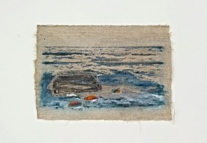 Colorfully Pale III, Astrid Stoffels, Mixed media, olieverf, new artwork, kwetsbare nature, plastic soup, oceans clean up, Dutch artist, Art collectors, kunst verzamelen,