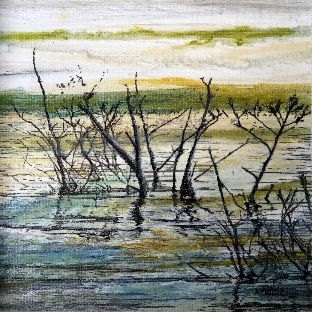 Beauty of fragile nature 4, Mixed media, oilpaint ,Astrid Stoffels ,Artist Vulnerable nature, contemporary art, art collectors